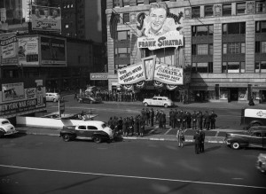 Frank Sinatra Fans at Paramount Theater, Manhattan