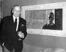 Frank Sinatra All Alone Painting at Home