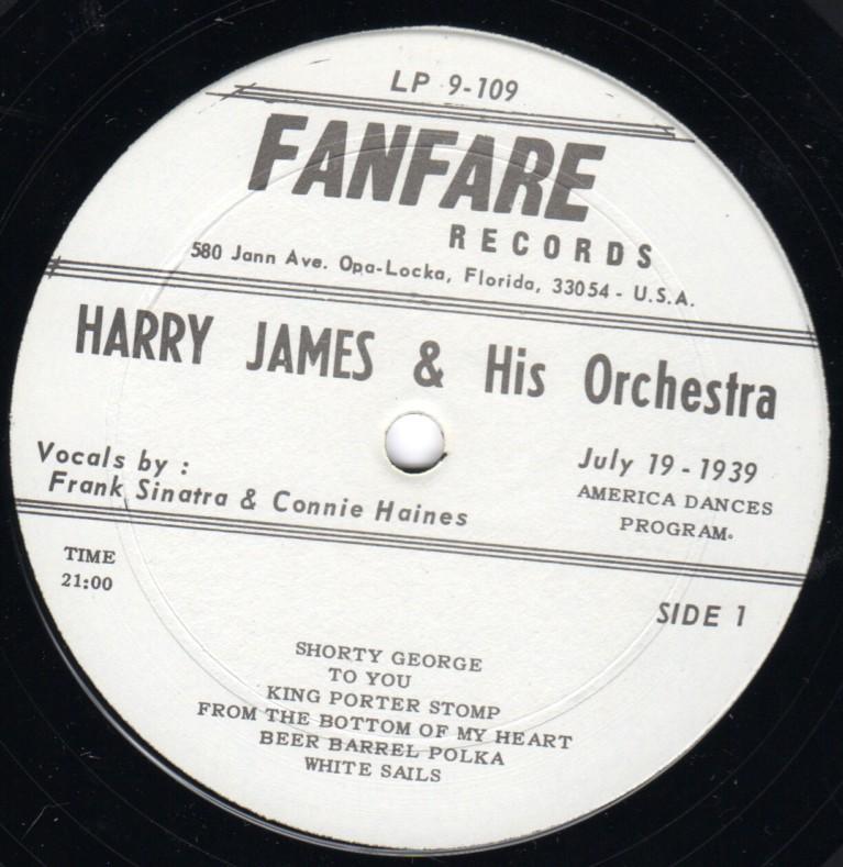 1939-07-19 Frank Sinatra Harry James America Dances Program LP